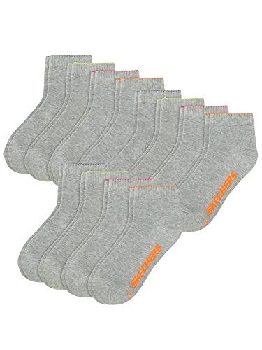Skechers Damen Basic Quarter Sport Socken 12 Paar - fog (49) - 39-42