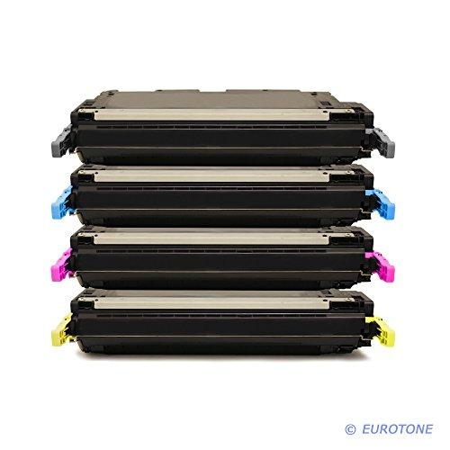 IntelliTone kompatibler Cartridge für Color Laserjet 3800 DN N ersetzen HP Q7580A Q7581A Q7582A Q7583A Patronen im Bundle Original EUROTONE (ISO-Norm 19798)