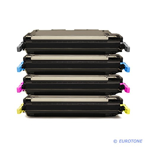 4X EOS-Toner XXL Set remanufactured für HP Color Laserjet 4700 N/DN/DTN/Plus – Alternative ersetzt HP Q5950A Q5951A Q5952A Q5953A