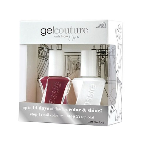 Essie Gel Couture Nail Polish - Spiked With Style DUO - 13.5ml / 0.46oz EACH