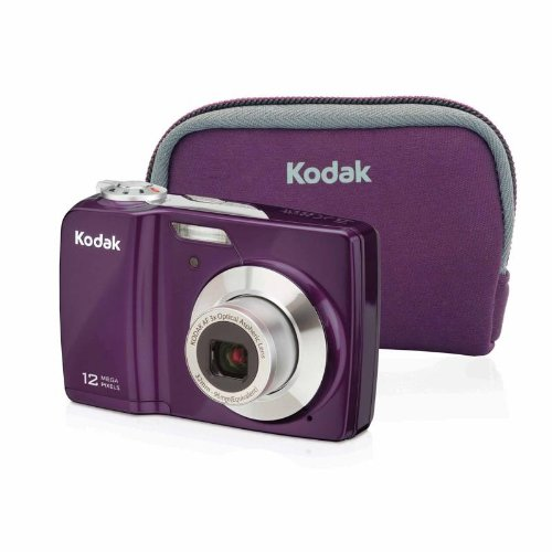 Great Price! Kodak EasyShare C182 Digital Camera Bundle(Purple)