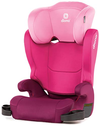 Diono Cambria 2 High Back and Backless Booster Seat, (40 - 120 lbs), Pink