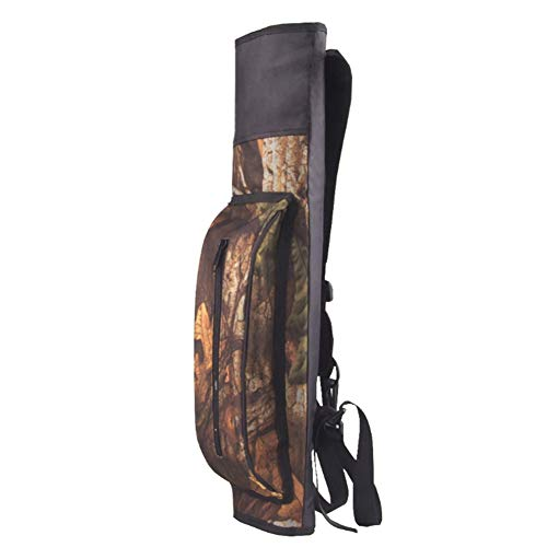 Waterproof Ultralight Archery Arrow Quiver Holder Bag Shoulder Backpack with Zipper Pocket Hunting (Camouflage)