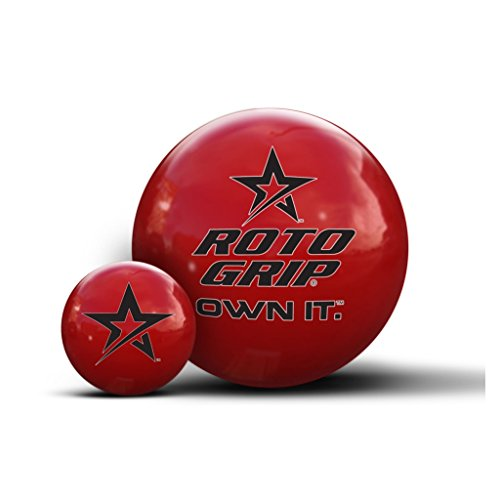 Roto Grip Own It Red Clear Polyester Bowling Balls, 15-Pounds