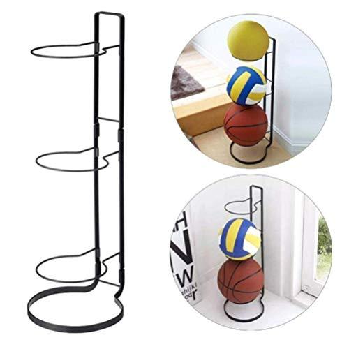 Kappha 3 Stapel Ball Rack Basketball Halter Metallständer Sport Ball Rack Display Ball Halter für Basketball Fußball Fußball Volleyball Übung Ball Medizin Ball