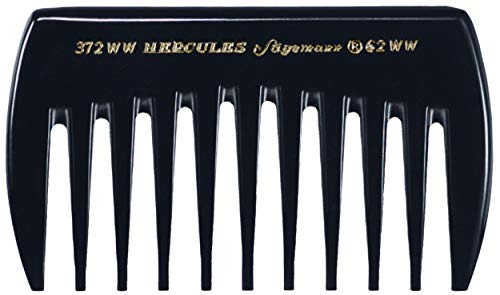 Hercules Sägemann 372 WW 62 WW Profi Styling-Kamm 11 Zähne Naturkautschuk Haarkamm Zahnung grob - 3,5 Zoll - Lockenkamm Taschenkamm