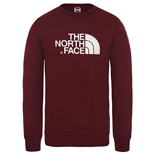 The North Face M Drew Peak Crew, Felpa Uomo, Rosso (Deep Garnet Red), XL
