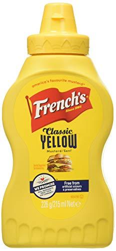 French, Mostaza amarilla - 4 de 226 gr. (Total 904 gr.) Lot de 4