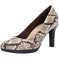 Clarks Women's Adriel Viola Dress Pump (Taupe Snake)