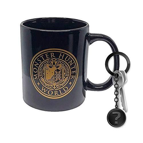 Monster Hunter World - Vintage Badge - Tasse | Offizielles Merchandise | SET inkl. Schlüsselanhänger