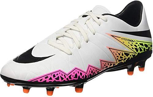 Nike  JR Hypervenom Phelon II FG 749896 108, Herren Fußballschuhe, Weiß (Weiß (White/Black-Total Orange-Volt)), 44.5 EU / 10.5 US