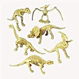 US Toy - Assorted Dinosaur Skeleton Toy Figures, Made of Plastic, (1-Pack of 12)