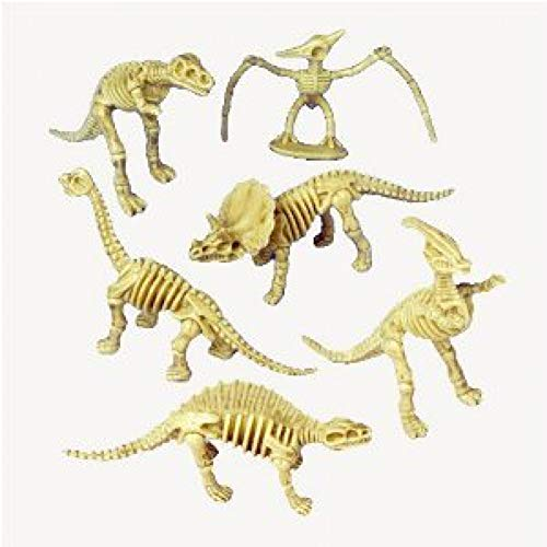 Assorted Dinosaur Skeleton Toy Figures (Pack of 12)