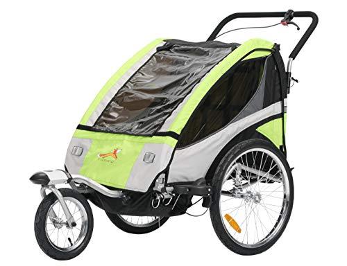 Fiximaster multifunktion 2 in 1 Fahrradanhänger/Jogger Babywagen Jogger Handwagen Grün BT504S NEU