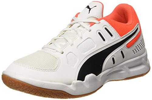 Puma Auriz Jr, Unisex-Kinder Futsalschuhe, Weiß (Puma White-Puma Black-Nrgy Red-Gum), 34 EU (1.5 UK)