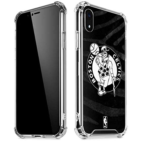 Skinit Clear Phone Case for iPhone XR - Officially Licensed NBA Boston Celtics Black Animal Print Design