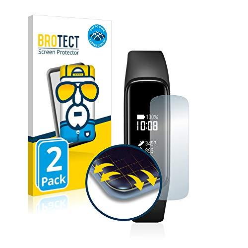 BROTECT Full-Cover Schutzfolie kompatibel mit Samsung Galaxy Fit e (2 Stück) - Full-Screen Bildschirmschutz-Folie, 3D Curved, Kristall-Klar