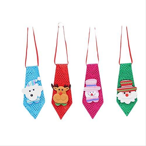 LBYLYH Kerst Ornamenten Kerst Kostuum Accessoires Creatieve Kinderen Tie Decoratie Party Dans Pailletten Nek Tie