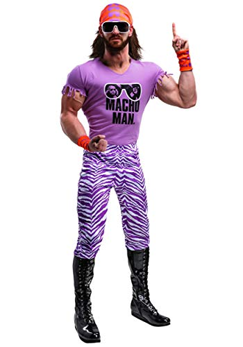 WWE Macho Man Randy Savage WWE Costume Adult Macho Madness Wrestling Costume Large Purple