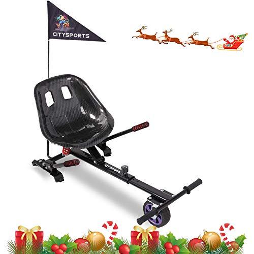 MARKBOARD Hoverkart Sitzscooter Gokart, Hovergokart, Hovercart, Sitz für Self Balancing Scooter mit Dämpfungsfeder, Kompatibel mit 6,5zoll 8,5zoll und 10 Zoll Scooter