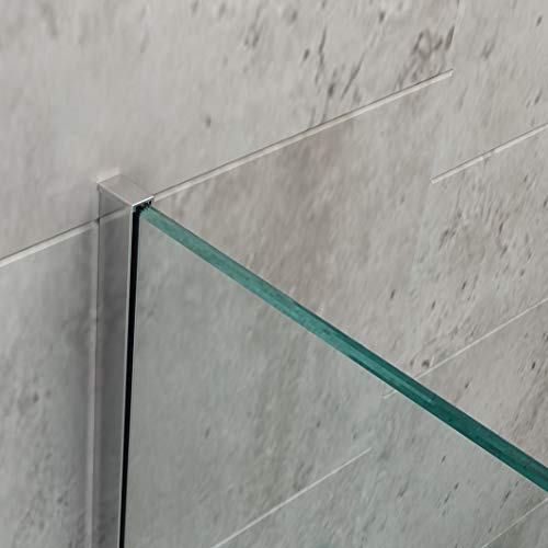 Wandanschlussprofil für BERNSTEIN Duschabtrennung Walk-In EX101 - Farbe & Glasstärke wählbar, Farbe:Chrom, Glasstärke:8 mm