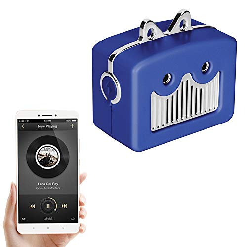 Mini Bluetooth-luidspreker, Bluetooth 4.2 draagbare mini-reisluidspreker met subwoofer / versterkte bas / oplaadbare stereo soundbar, mini draadloze kattenluidspreker (blauw)