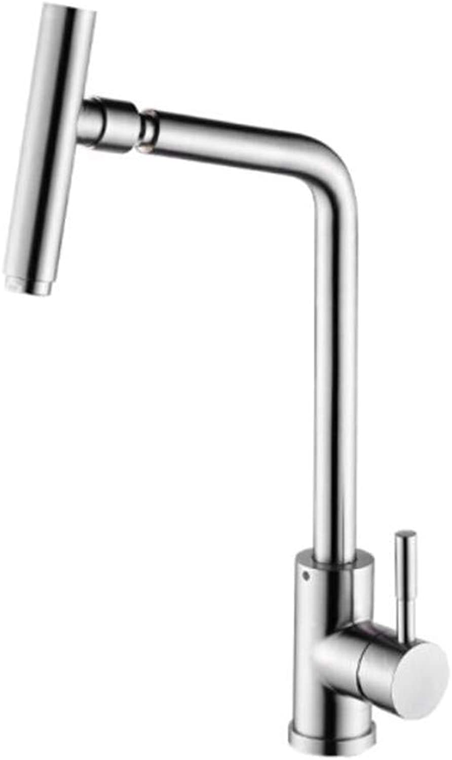 Faucet Waste Mono Spoutkitchen Dishwash Basin Cold and Hot Stainless Steel Sink Dishwash Basin Wire Drawing Can redate