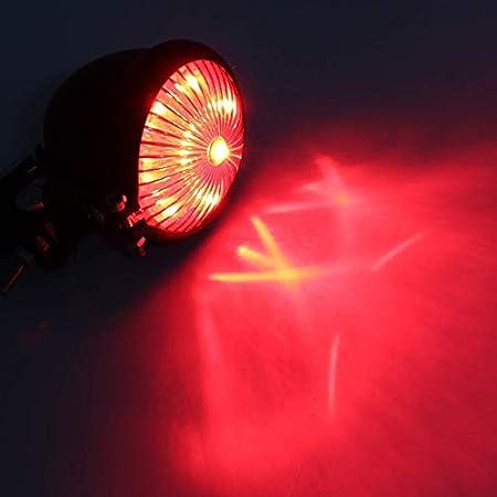 Cafe luces traseras integradas para Chopper Bobber Kamenda Buggy Dirt Bike color plateado y rojo Luz trasera de freno LED para motocicletas ATVS Racer