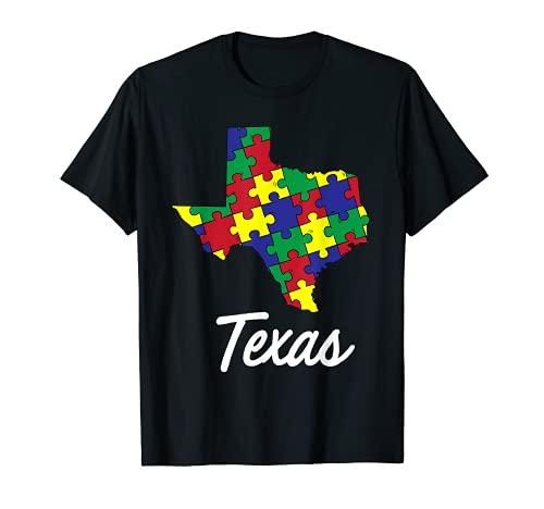 Día de la conciencia del autismo   Texas Puzzle Pieces Gift Tee Camiseta