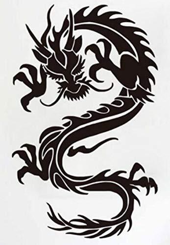 Hllhpc Chinese draak patroon creatief gepersonaliseerd thuis muursticker decoratieve muursticker 55 x 90 cm