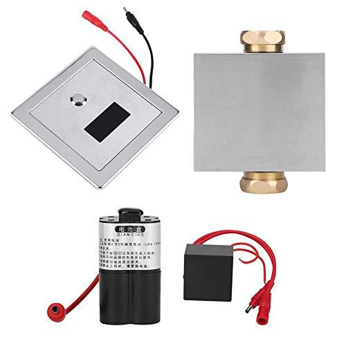 YUQIYU La orina del sensor infrarrojo Urinario manual y automática de heces al ras de la válvula de la válvula de cobre for el Hotel Cuarto de baño WC Válvulas Urinario sensor de enjuague