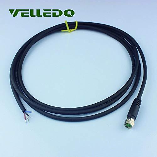 VelLEDQ M8 Conector de Sensor 4 Pines Hembra Recto con 2 m