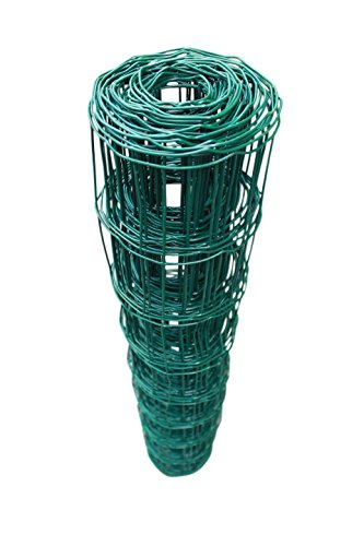 TOP MULTI Maschendrahtzaun Wildzaun Gartenzaun PVC-beschichtet grün - versandkostenfrei (D) (76mm 120cm x 10m)