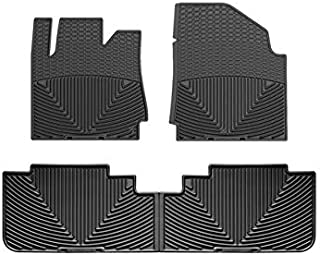 WeatherTech All-Weather Floor Mats for Cadillac SRX - 1st & 2nd Row (Black)