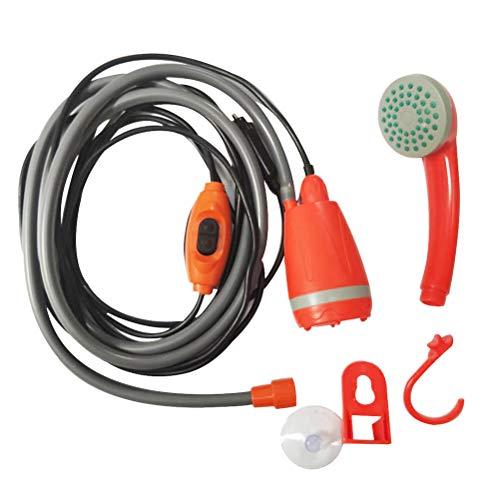 Mankoo Campingdusche Tauchpumpe Handbrause, USB-Aufladen, für Camping Garten - Auto - Outdoor, Hundedusche, Autoreinigung, 12V Pumpe