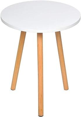 WJMLS あなたAより良い経験と長寿命を提供しますサイドテーブル小さな丸いコーヒーテーブルウッドルックソリッドウッドテーブルの脚