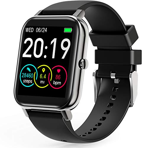 GOKOO Smart Watches for Men Women Blood Pressure Sleep and All-Day Heart Rate Monitor Full Touch Sport Activity Tracker Waterproof Smart Watch for Android Phones Camera Music Remote Control Weather