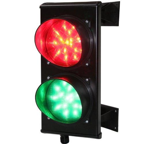 Verkehrsampel ROT/GRÜN LED, Torampel, Ampelanlage (230 Volt)