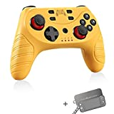 Wireless Switch Pro Controller for Nintendo Switch/Switch Lite,Switch Remote Joypad Control Games Joystick for Switch Consolewith Turbo,Gyro Axis,Motion & Vibration Shock,Work with Bluetooth(Yellow)