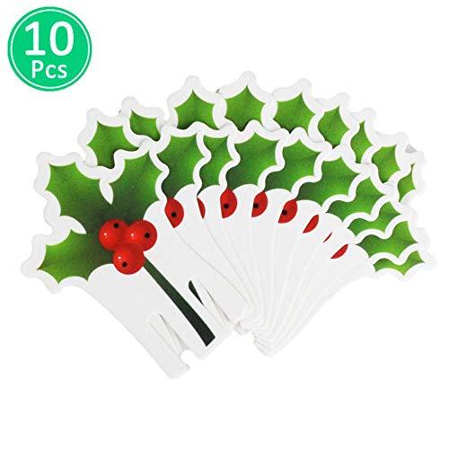 HJCWL 10 stuks decoraties van wijnglas voor huis, tafel, plaatskaarten, kerstboom, kerstboom, sneeuwman
