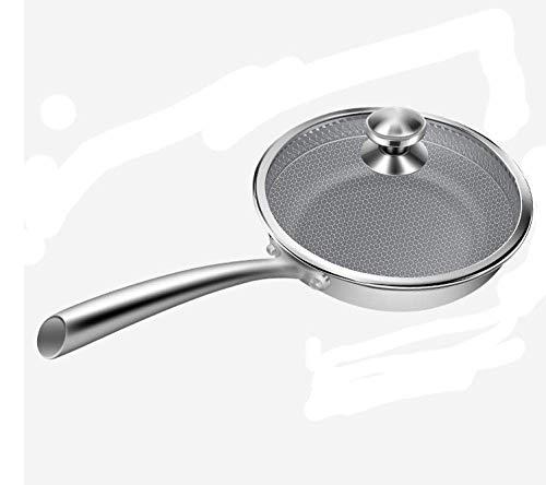 AMYZ Chef's Saut & Eacute; Ouverture de la poêle,poêle antiadhésive Domestique en Acier Inoxydable 316,poêle à crêpes poêle à Steak aux œufs frits pour cuisinière électrique en céramique cuisiniè