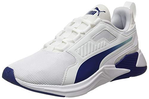 PUMA 193728, Zapatillas de Gimnasio Hombre, Blanco Elektro Azul, 42 EU
