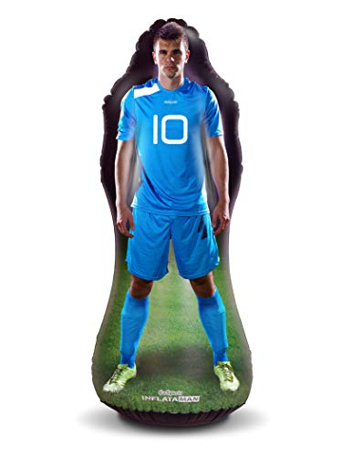 GoSports Inflataman Soccer Defender Training Aid | Weighted Defensive Dummy for Free Kicks, Dribbling and Passing Drills