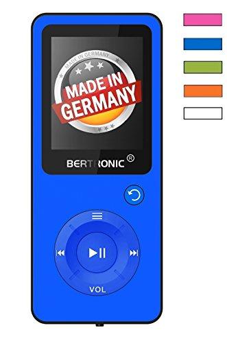 BERTRONIC Made in Germany BC09 Royal MP3-Player Bis 100 Stunden Wiedergabe Radio | Portabler Player mit Lautsprecher | Audio-Player für Sport mit Micro SD-Kartenslot