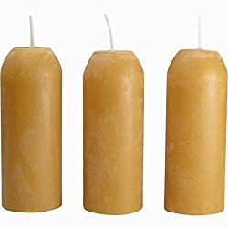 UCO Candle Lantern 3.5-Inch Candles, 3-Pack, 12-Hour Beeswax