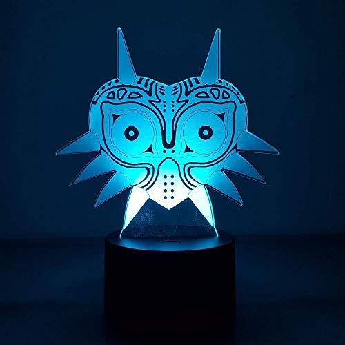 3D-Diashow 3D nachtlampje Zelda Majora masker visuele illusie RGB LED kleurverandering usb nachtlampje Link Action Figuur Anime speelgoed zonder afstandsbediening