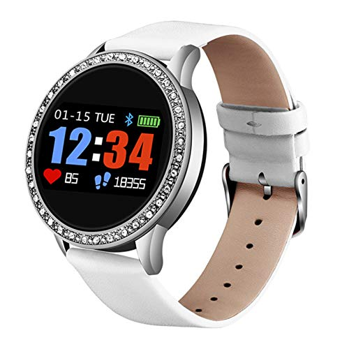 LJMG Smart Watch, Relogio Digital Female Impermeable, Deportes, Presión Arterial, Moda, Calorie Reloj Electrónico para Hombres para Mujer para Android iOS,D