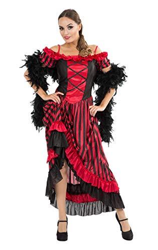 ORION COSTUMES Costume de déguisement sexy de danseuse de cabaret rouge pour femmes