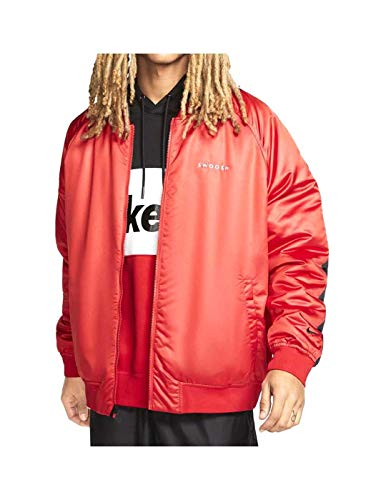Nike M NSW Swoosh BMBER Jkt Wvn Men's Woven Bomber Jacket CJ4875-657 University Red/Black/White (S)
