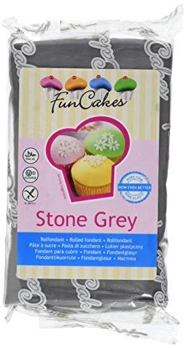 Funcakes Rollfondant in vielen verschiedenen Farben -250g- (Stone Grey)